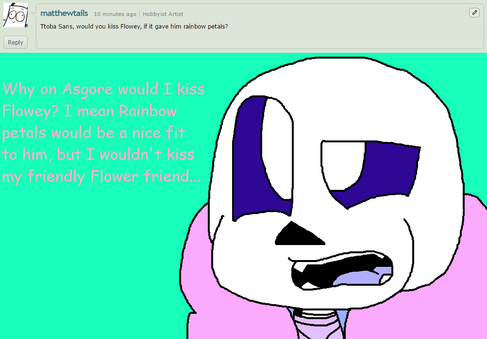 Ask ttoba Sans or Reflection #5 by cjc728