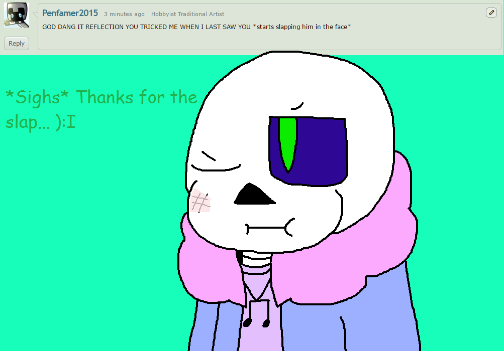 Ask ttoba Sans or Reflection #11 by cjc728