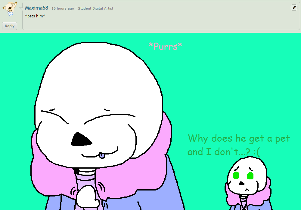 Ask ttoba Sans or Reflection #14 by cjc728