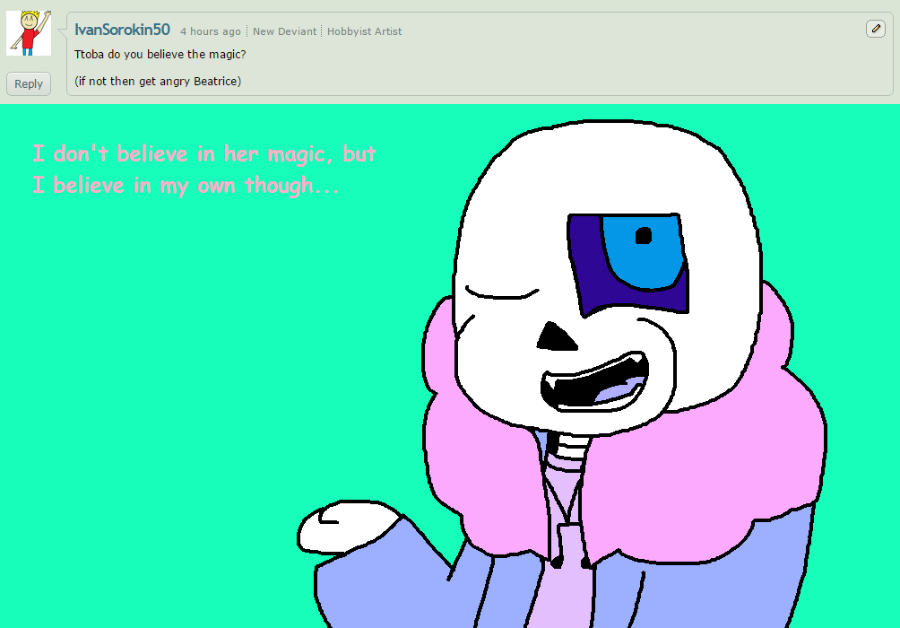 Ask ttoba Sans or Reflection #19 by cjc728