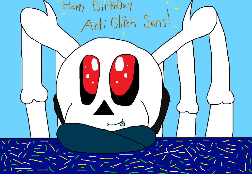 Happy Birthday Anti Glitch Sans by cjc728