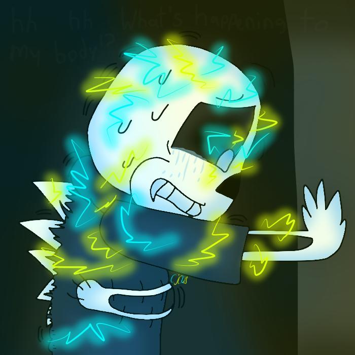 Spikes (Night Terror Sans Transforming) by cjc728