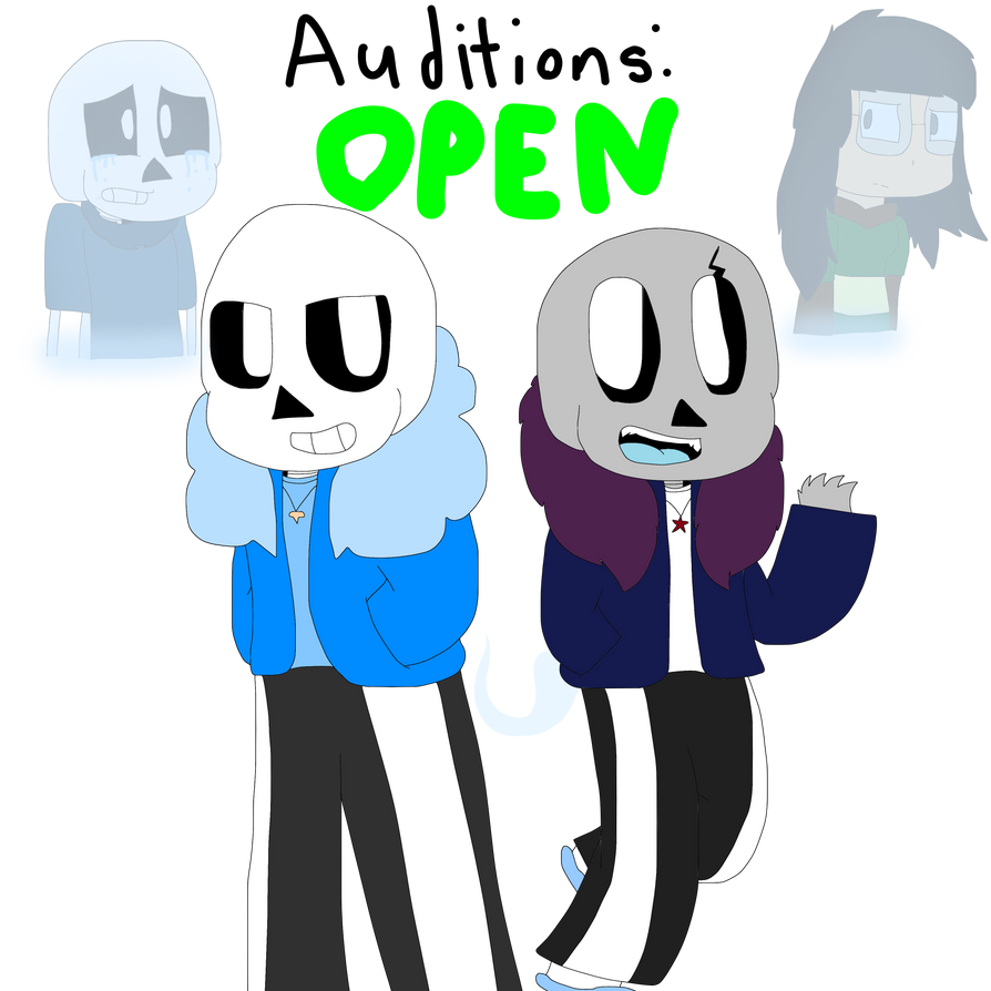 Ghoster Sans, Star, Night Terror Sans, and Sans Op by cjc728