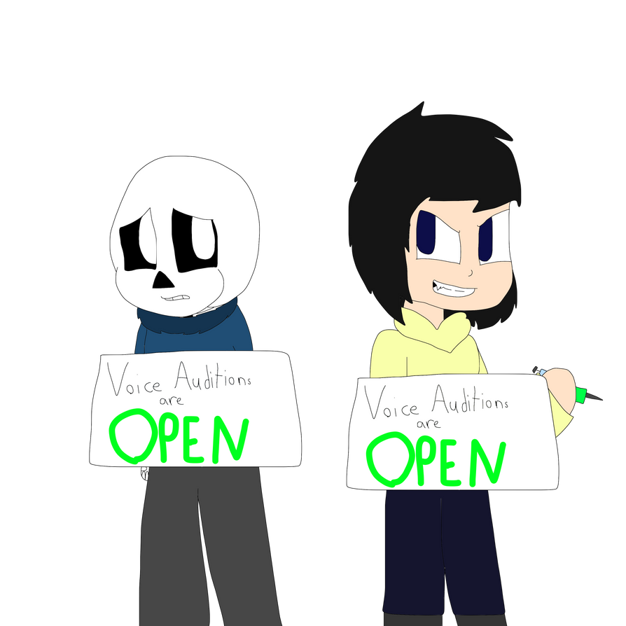 Night Terror Sans and Sarah Voice Auditions are op by cjc728