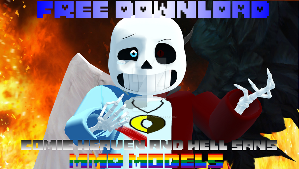 Comic Heaven and Hell Sans MMD Modles [DL] by cjc728