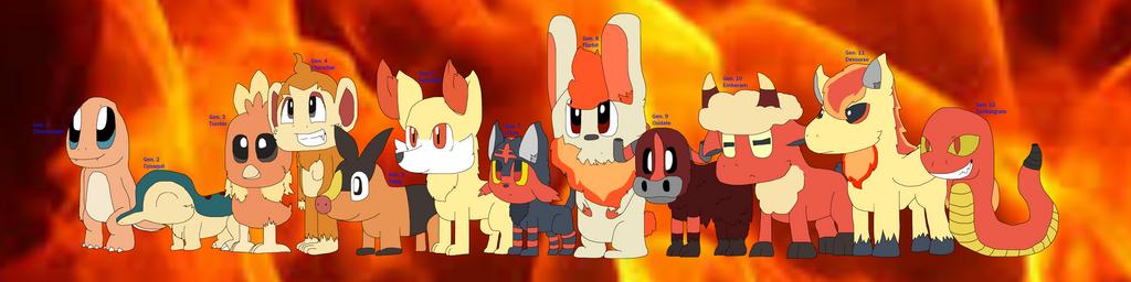 Fire Pokemon Generations by cjc728