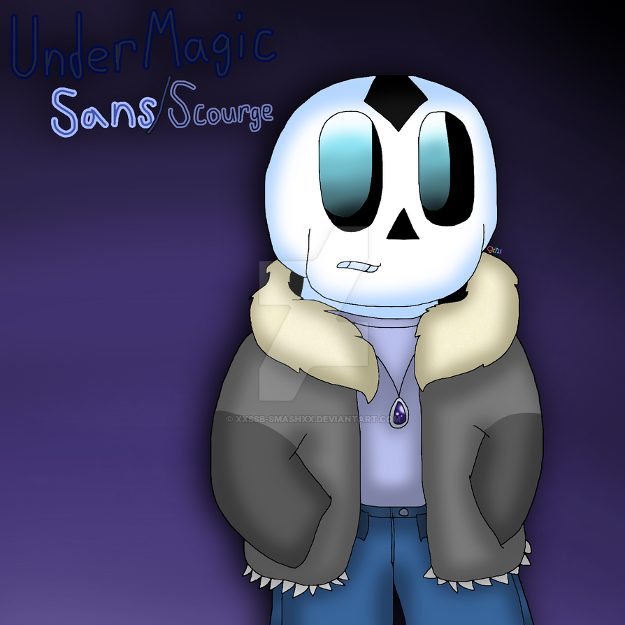 UnderMagic Sans (Scourge) [NEW AU CHARACTER] by cjc728