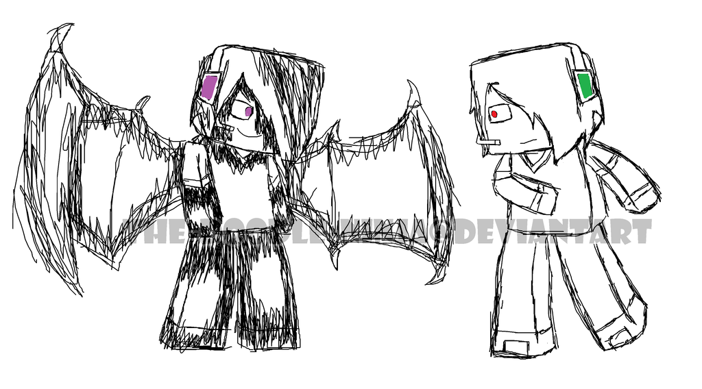Minecraft: Deadlox and Enderlox (Sketch) by The-Doodle ...