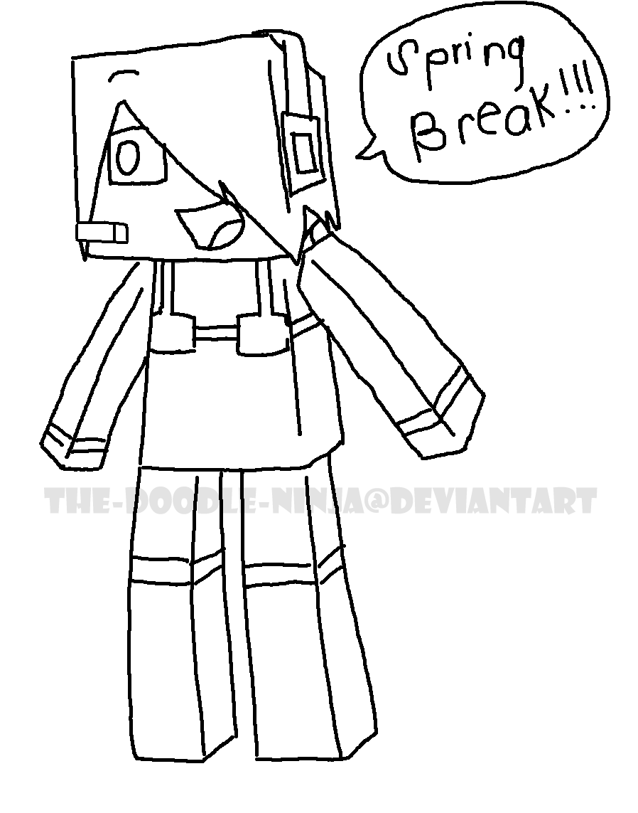 deadlox minecraft coloring pages - photo#5