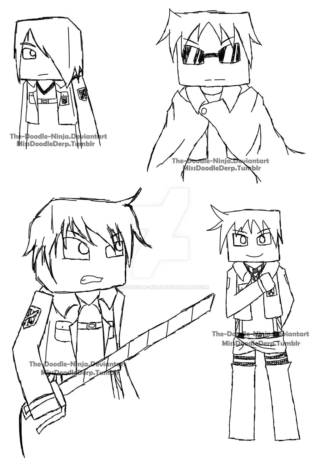 team crafted snk sketch by the doodle ninja on deviantart