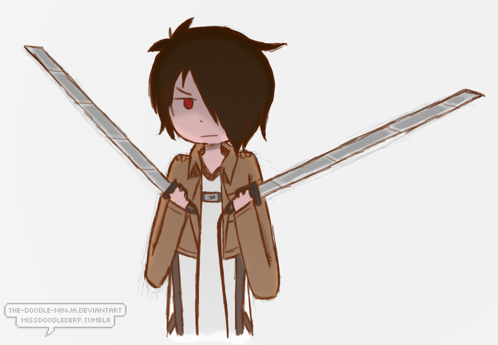 Attack on Minecraft: Blades ((Levilox)) by The-Doodle-Ninja