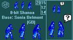 Shanoa in small 8-bit Sprites by Rage-DSSViper-Sigma