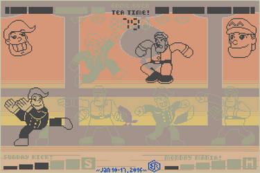 LCD Game or POP Station Mockup - Sunday vs Monday by Rage-DSSViper-Sigma
