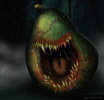 Killer Pear Creature by nuckerbar