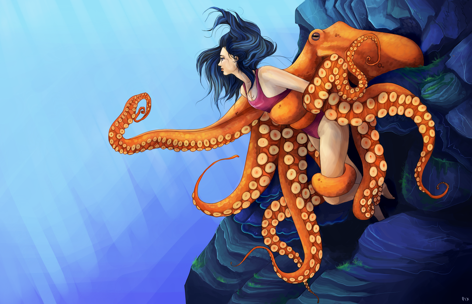 art Octopus sex girl