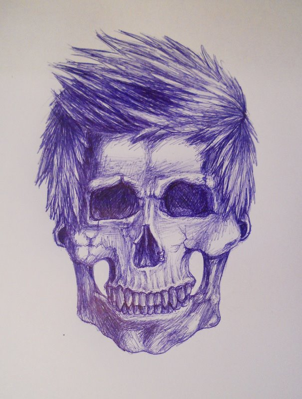 hipster skull by vampirellaa on DeviantArt