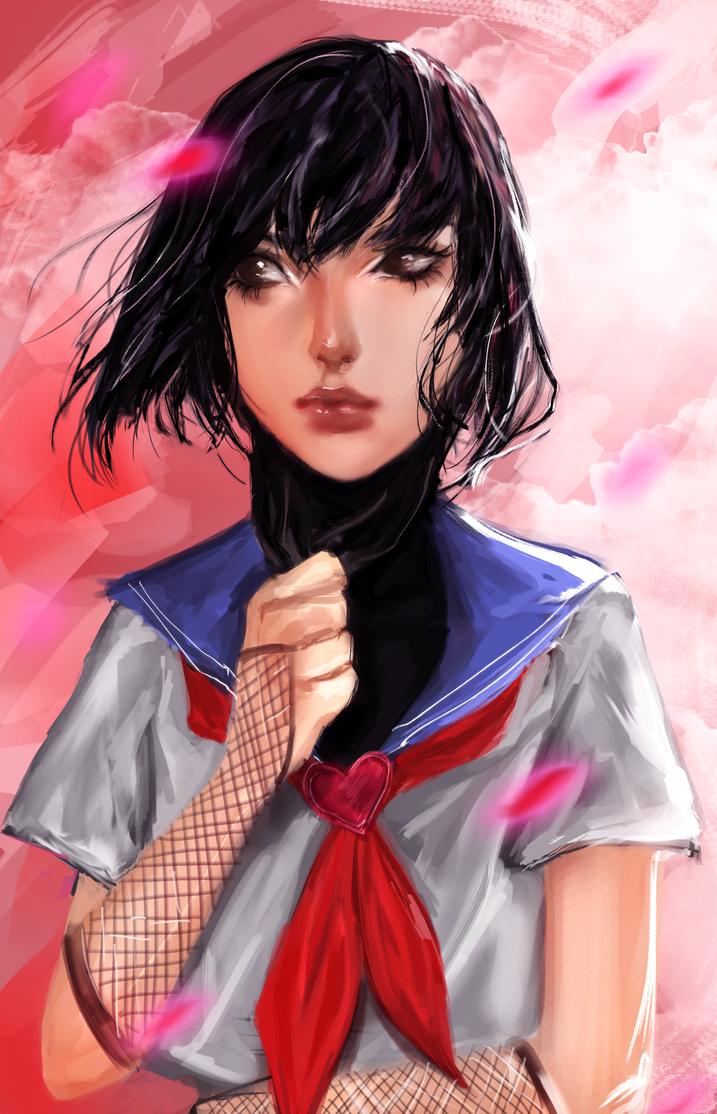 Ninja schoolgirl by godalexa