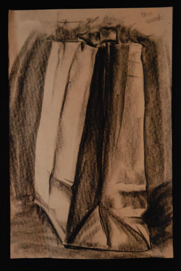 Paper bag sketch - Sketch Paper Bag By Indecisiveart