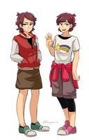 Genderbend Fight Twins by Buryooooo
