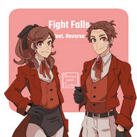 Fight twins in Reverse style by Buryooooo
