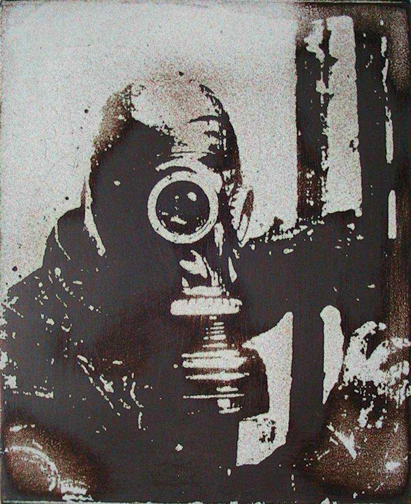 Untitled Gas Mask Enameling by oldmanglo0m