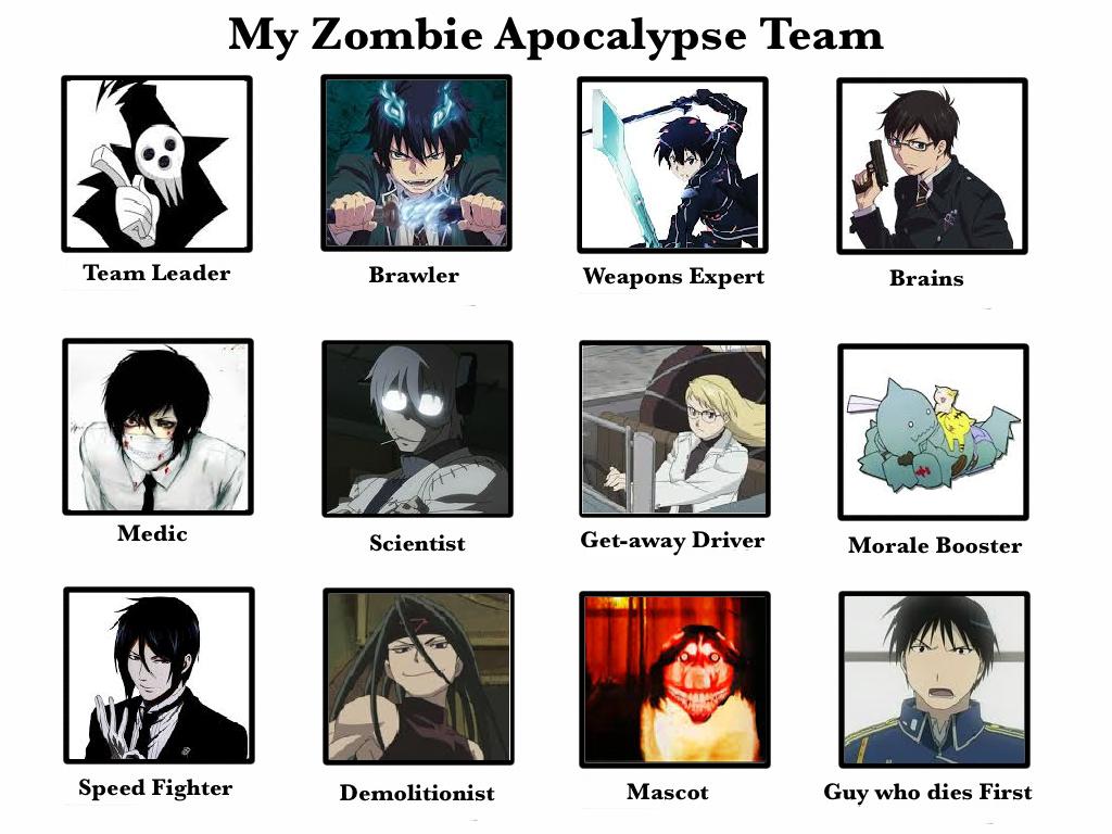 My Zombie Apocalypse Team by Fuzzyleaf-4eveh