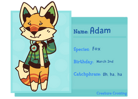 Adam - Creature Crossing Application by SpearmintDoodles