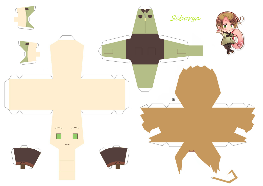 Seborga Papercraft by KimiMonsterKitty