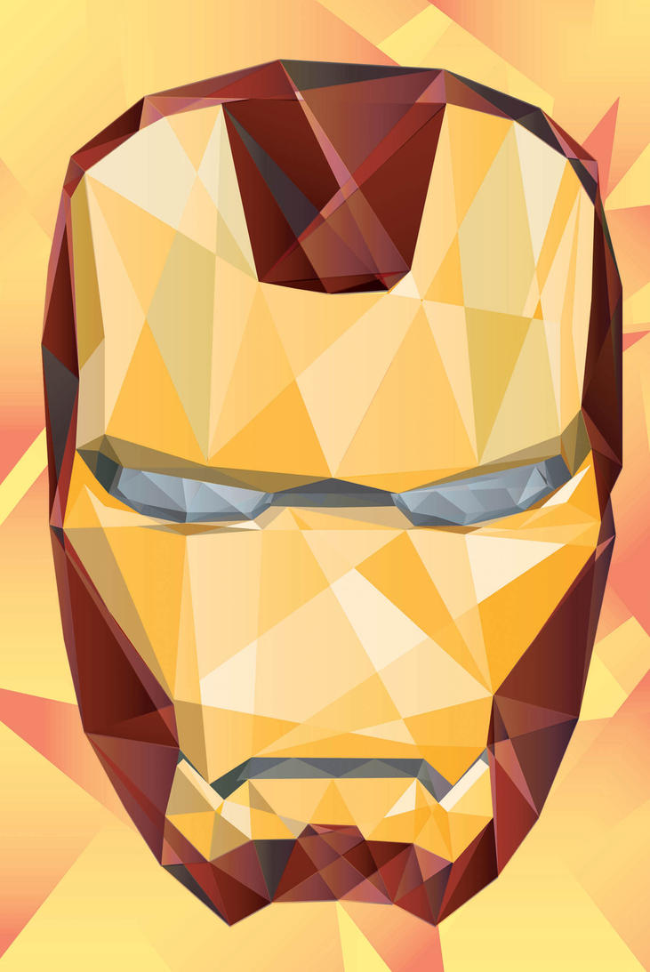 cubism iron mask by tuankacang