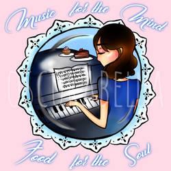 Beautiful Piano Woman - Commission