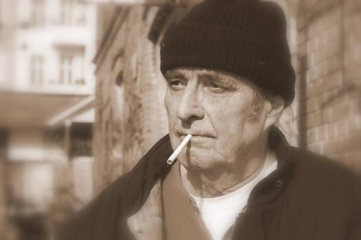 thinking old man