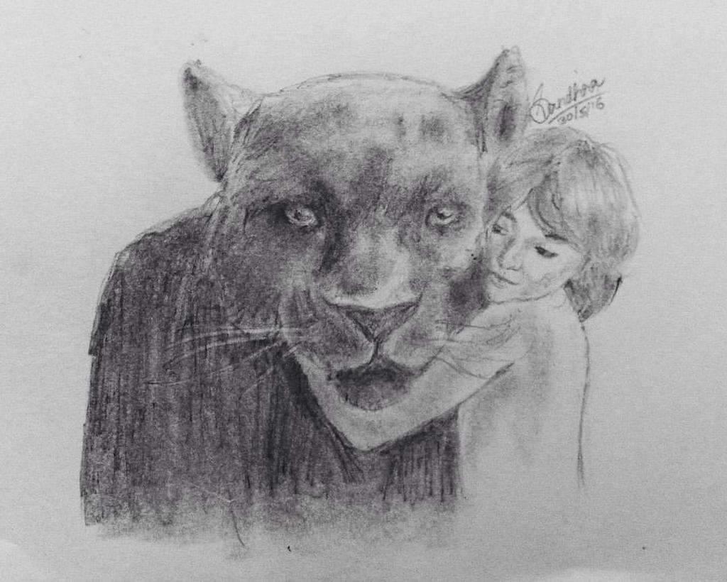 Jungle book pencil drawing by blu berry on deviantart