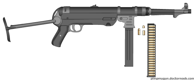 how to draw a simple cartoon mp40