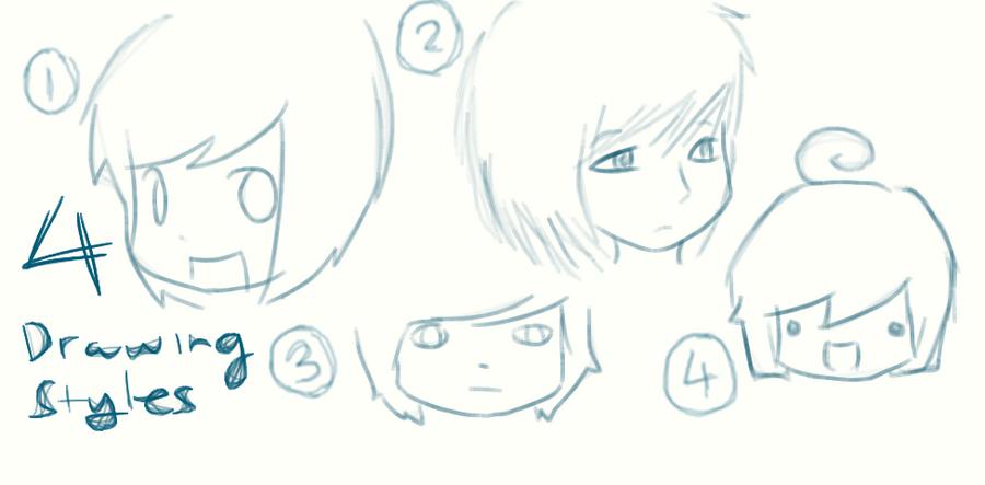 4 of my drawing styles by graceeeeee on DeviantArt - Cute Hairstyles That Are Easy