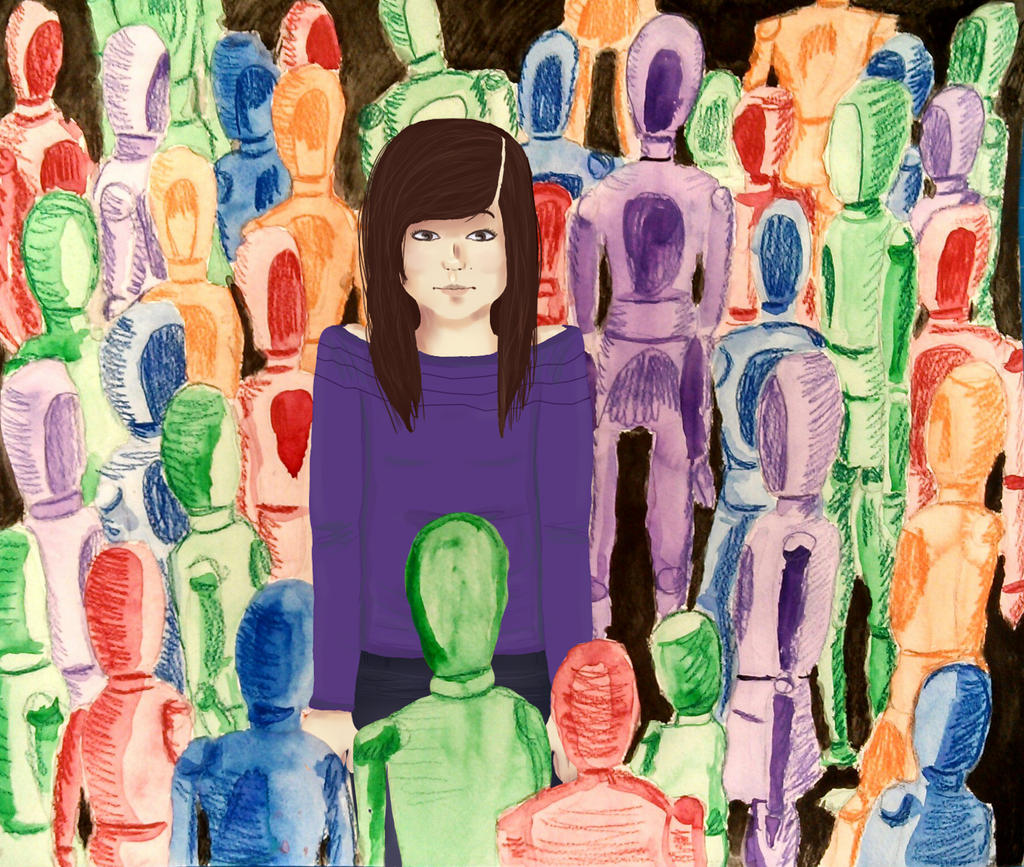 Have You Ever Been Alone In A Crowded Room by CarmelMelon on ...