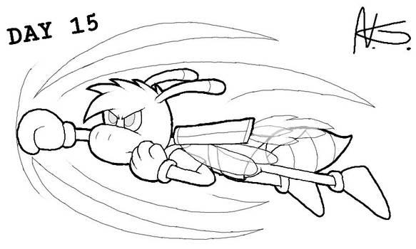 Flynn Fyrefly: Rocket Punch (line-art) by Pryexel48
