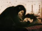Young Severus Looking over Sleeping Hermione