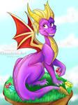 Spyro the dragon {Commission}