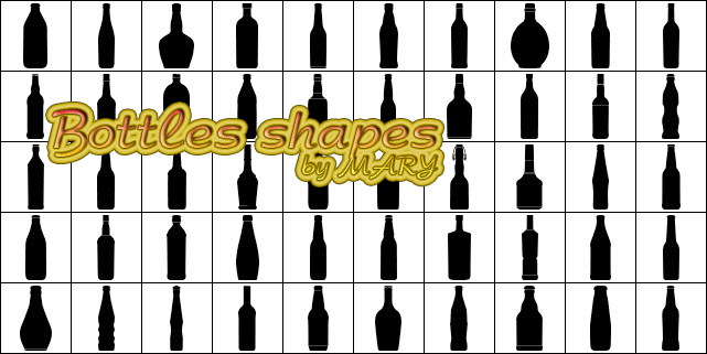 Bottles shapes by MARY1976