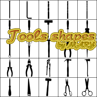 Tools shapes by MARY1976