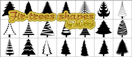 Fir-trees shapes