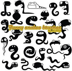 Funny snakes brushes