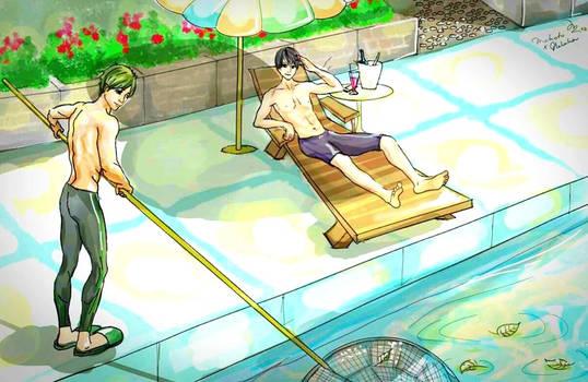 Makoharu Pool Boy AU