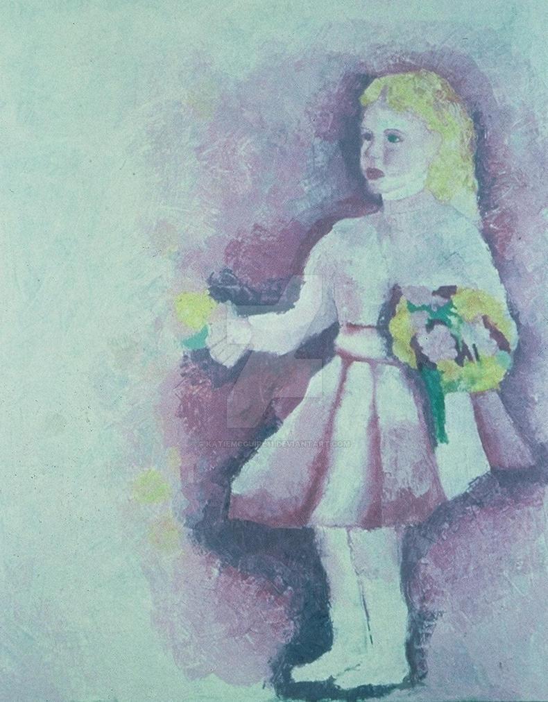 Girl With Bouquet by KatieMcGuire11
