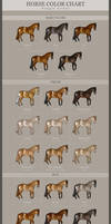 HORSE COLOR CHART - Single Genes *UPDATED*