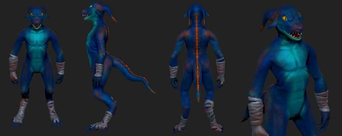 Lizardman model by torithefox