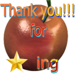 Thank You for Faving Apple by LA-StockEmotes