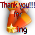 Thank You for Faving Candy Corn