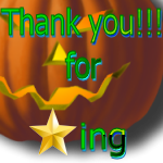Thank You for Faving Pumpkin by LA-StockEmotes