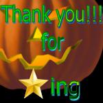 Thank You for Faving Pumpkin by LA-StockEmotes